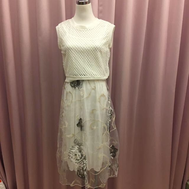 兩件式花漾連身裙 #新春八折
