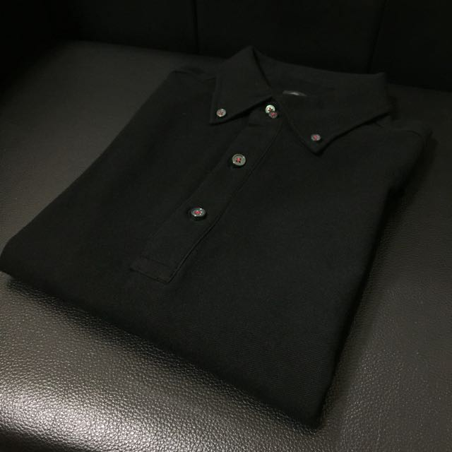 日本時尚品牌 Comme Ca Ism 專櫃正品 Polo衫 L 黑