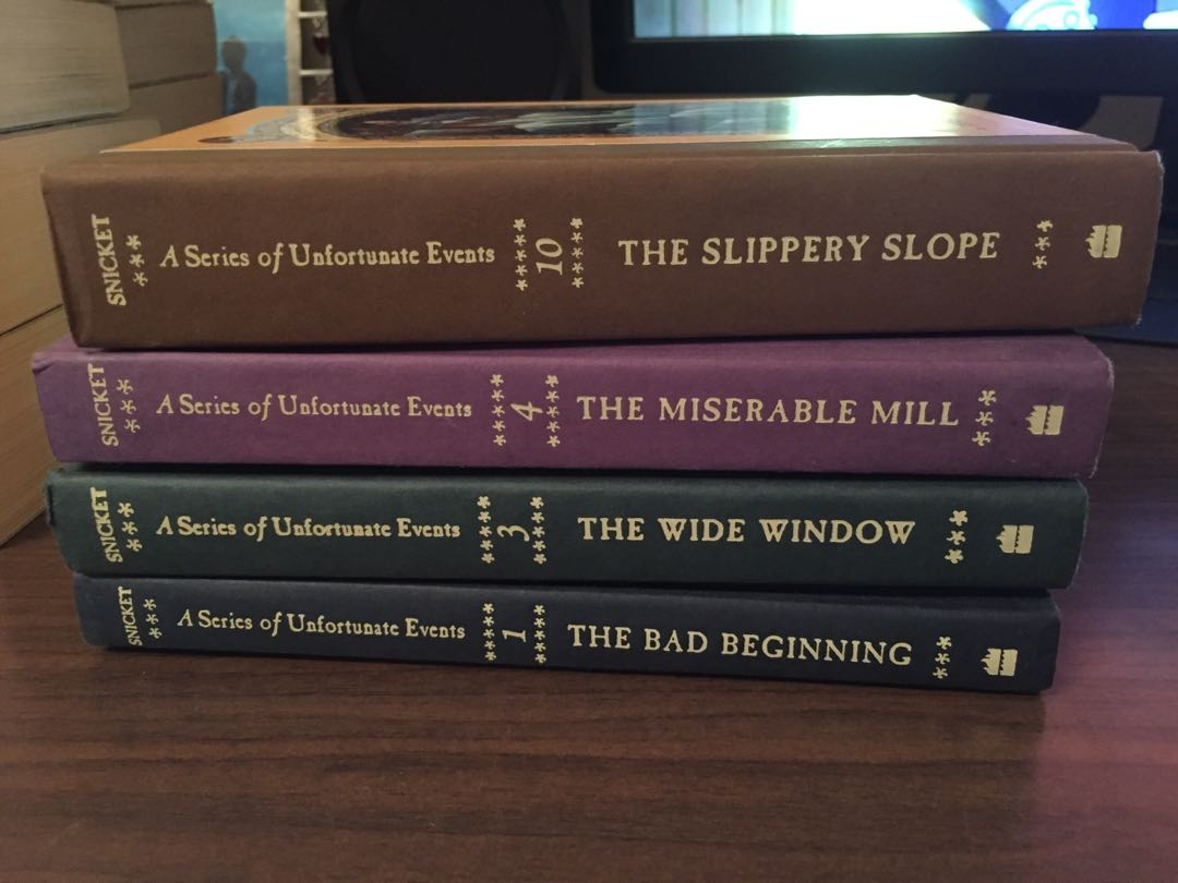A Series of Unfortunate Events (books 1,3,4, and 10)