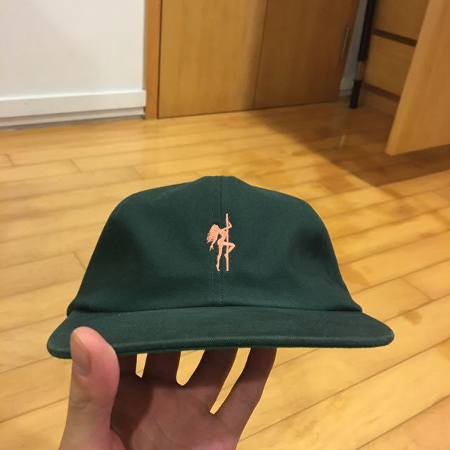 acapulco gold 帽子 深綠色 可調式 八成新