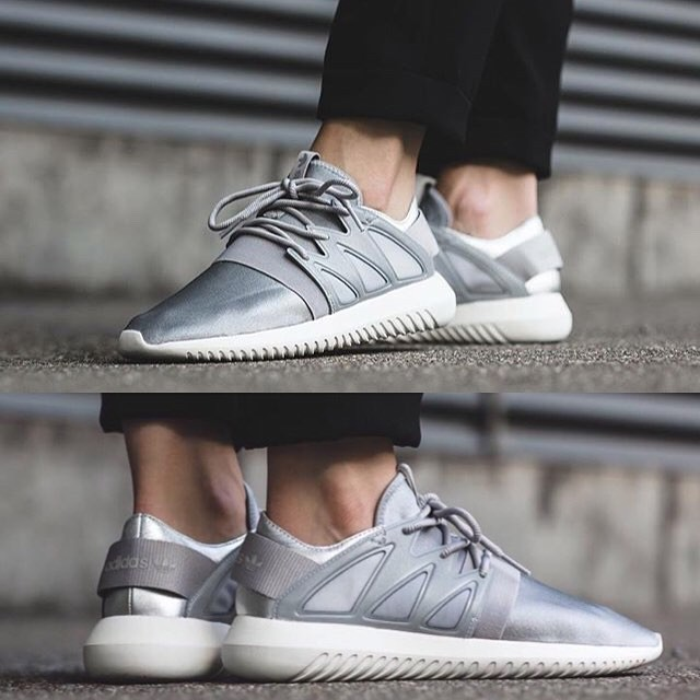 2f10c2f1e303 Adidas Tubular Viral Lifestyle Shoes Metal Silver   Granite-White ...