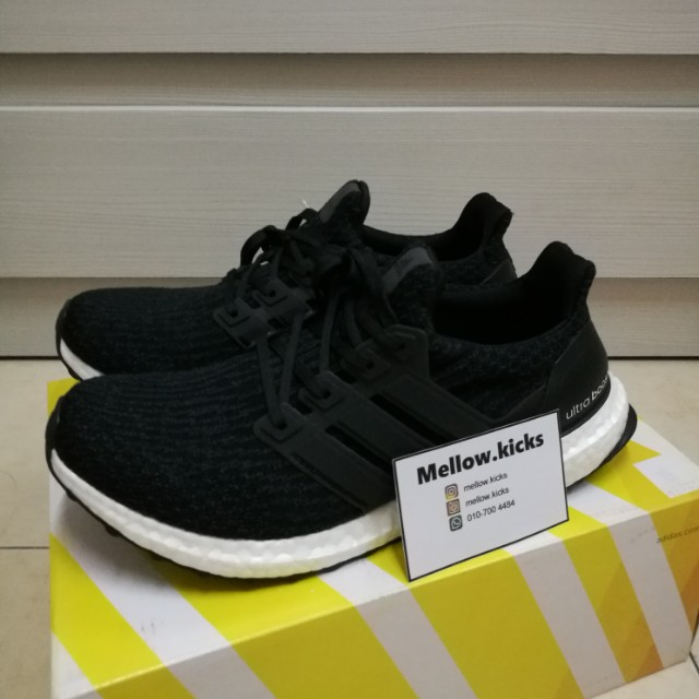 196b11f0087 Adidas Ultra Boost 3.0 Core Black UA