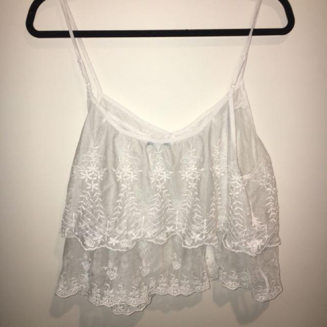 American eagle lacy shirt