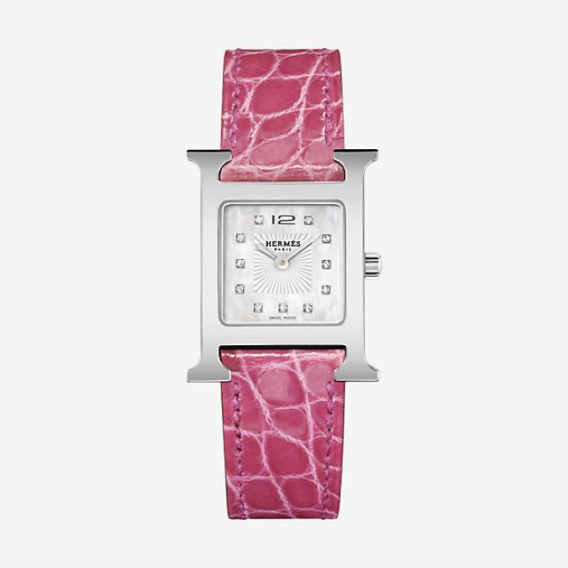 Authentic Hermes Heure H Watch With Diamonds