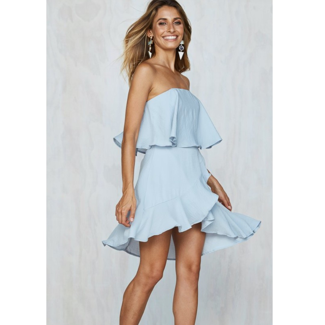 Baby Blue Strapless Dress