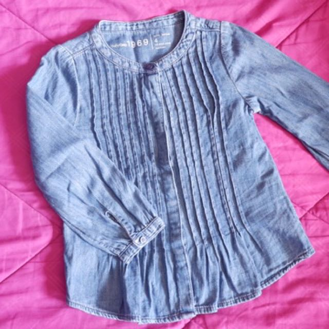 Baby gap soft denim long sleeves