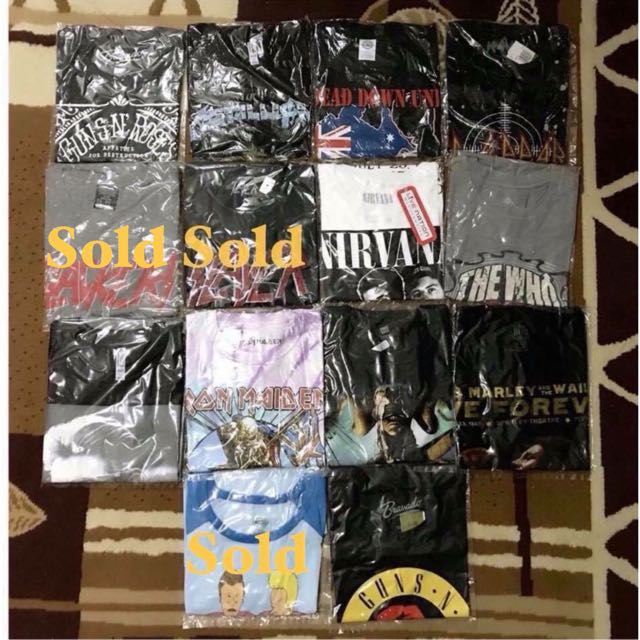Band Shirts from US, All Brand New!