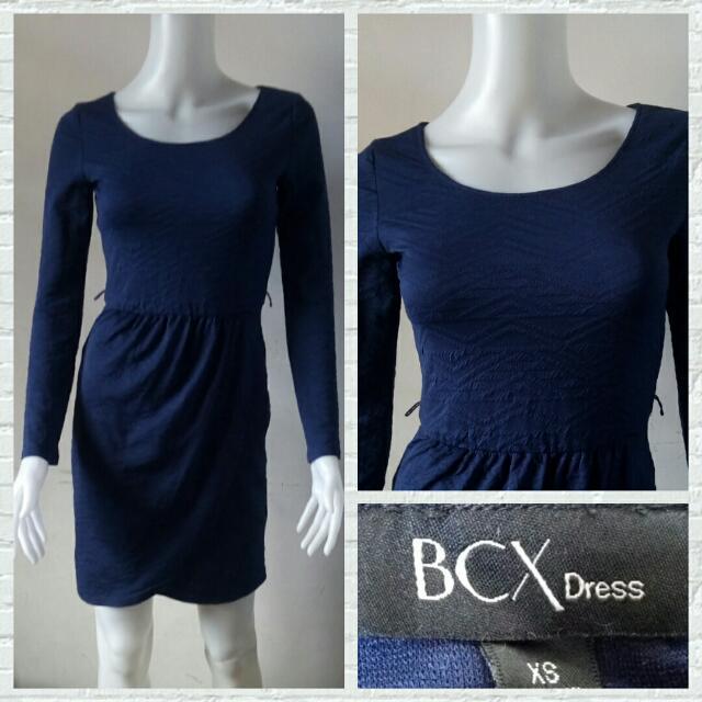 BCX Dark Blue Office Dress
