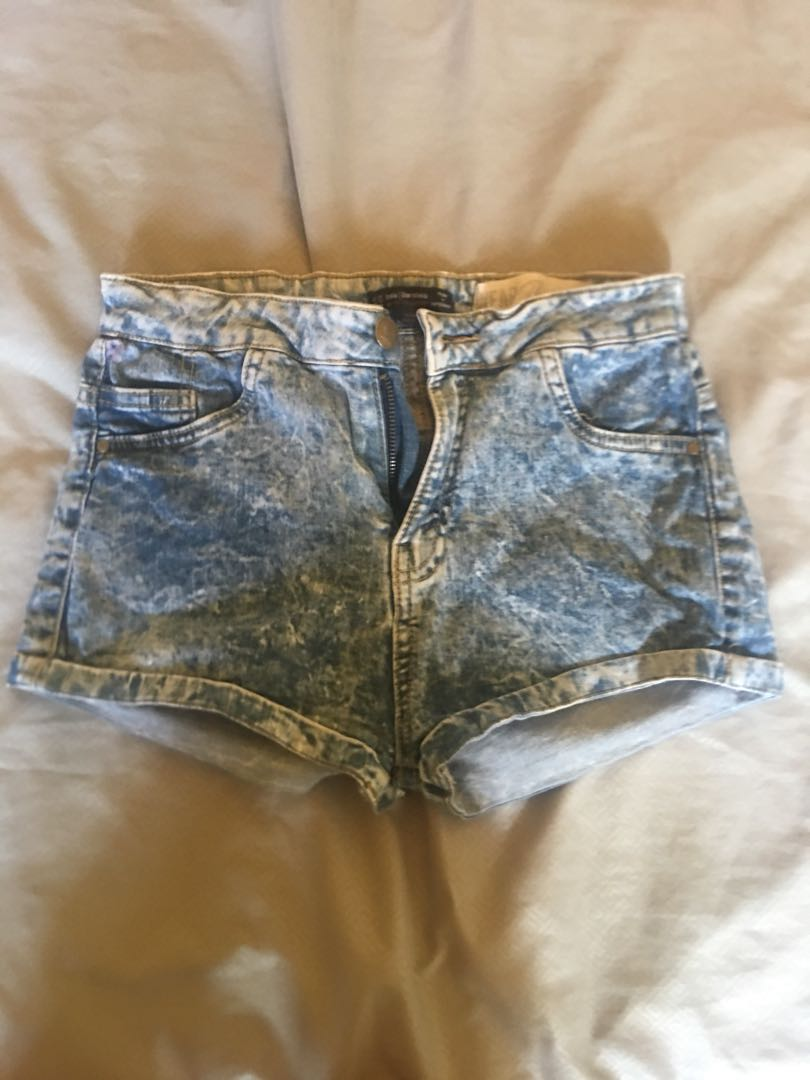 Bershka denim shorts