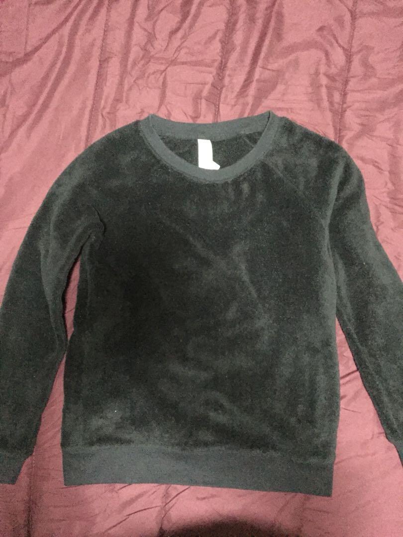 Black Fluffy Forever 21 Sweater