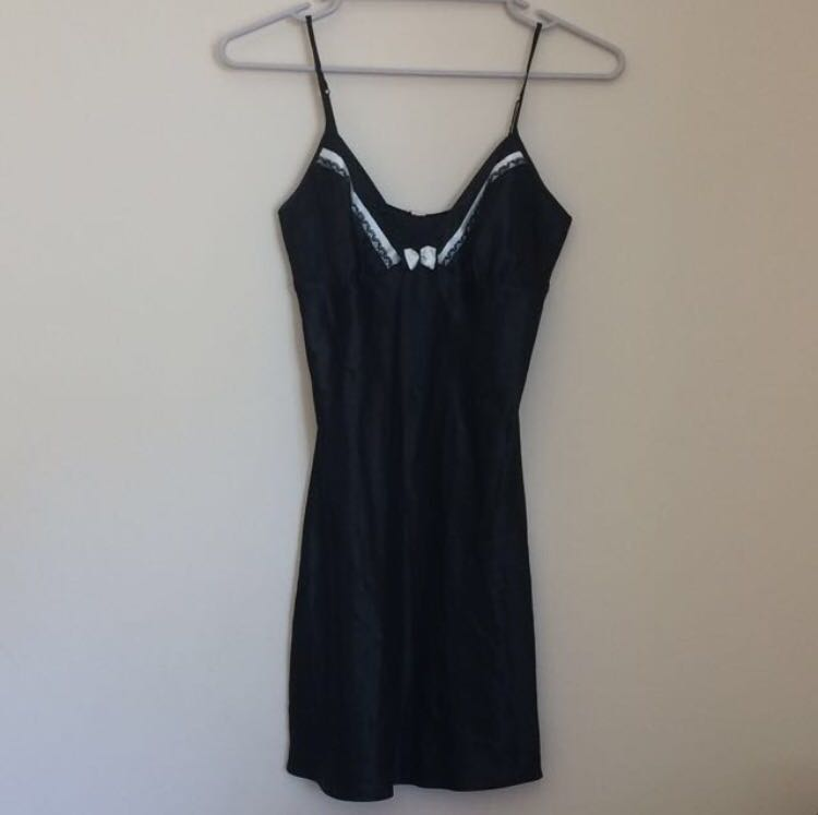 Black Satin Nightie - Size S - Brand New with tags
