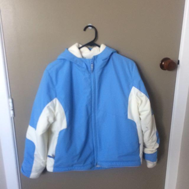 Blue ski jacket