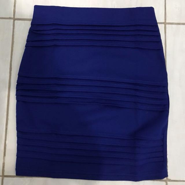 Blue skirt rok biru