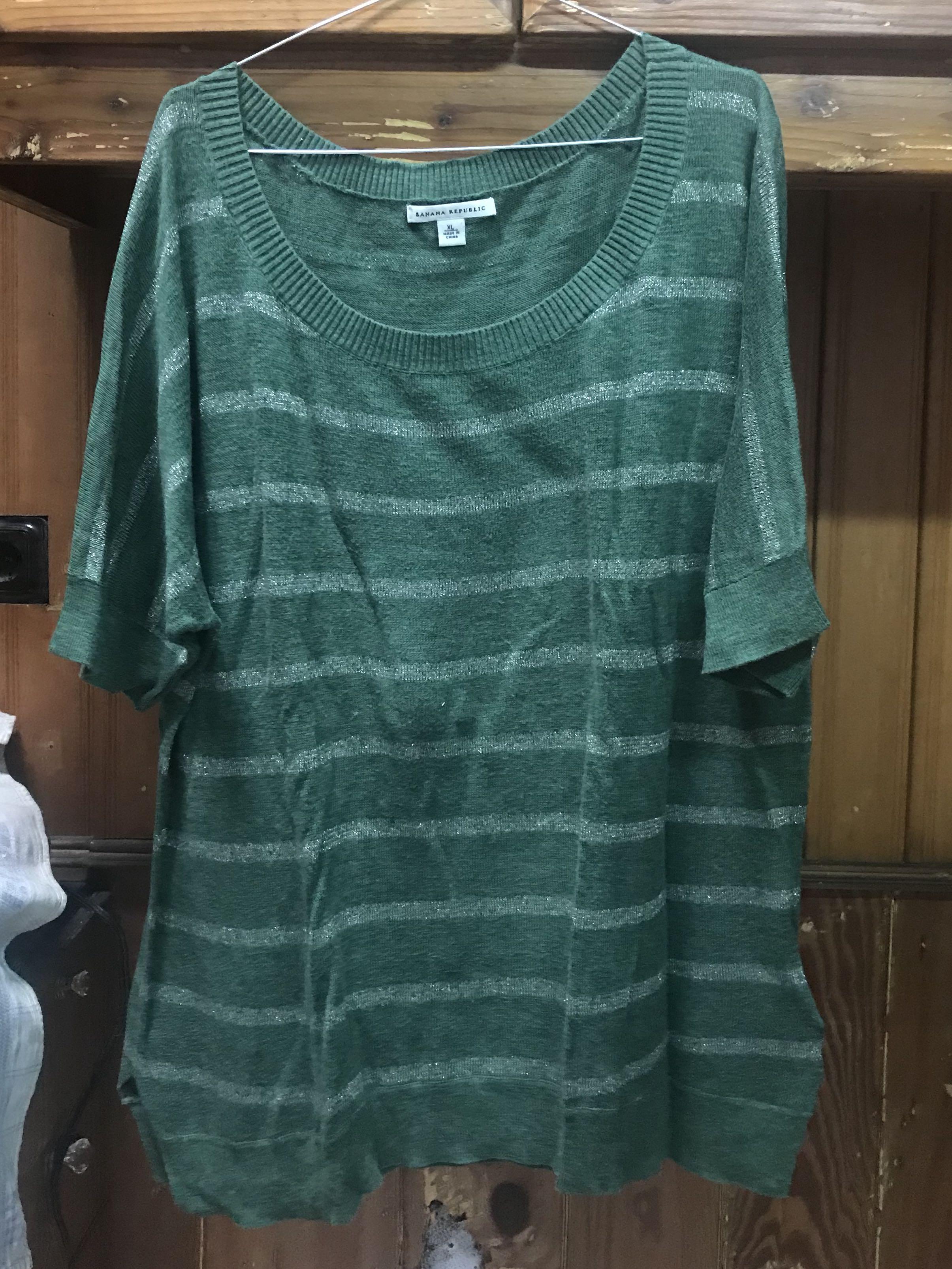 BR knit stripe shirt