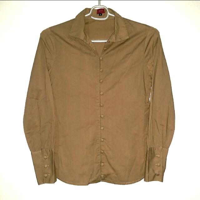 Women's Brown Polo Shirt