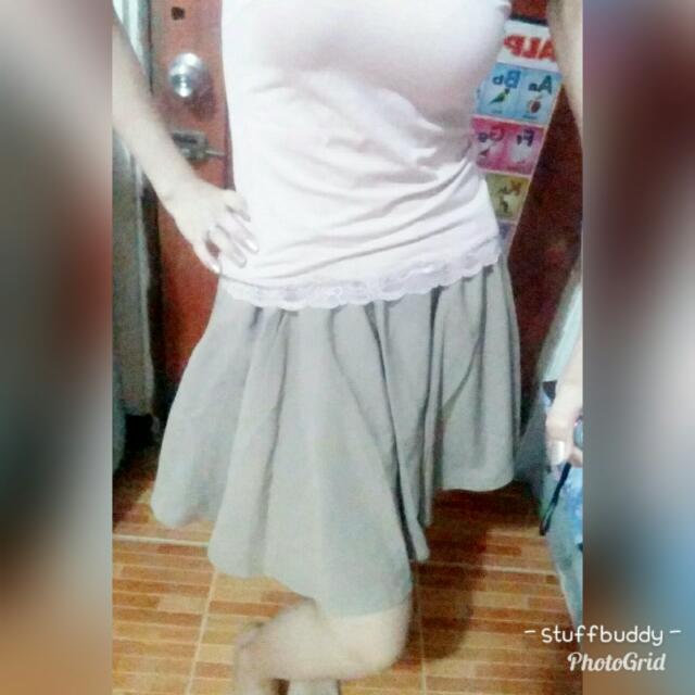 Brown Skater Skirt