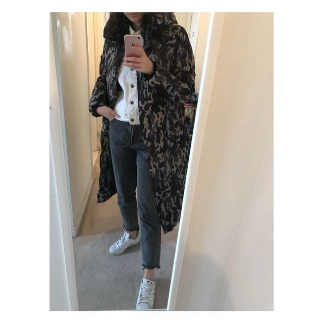 Camouflage Puff-long Jacket