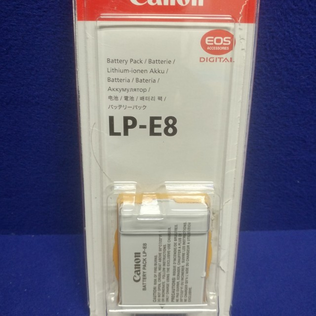 Canon LP-E8 Battery Rechargeable . Never used. For Rebel T3i T4i T5i