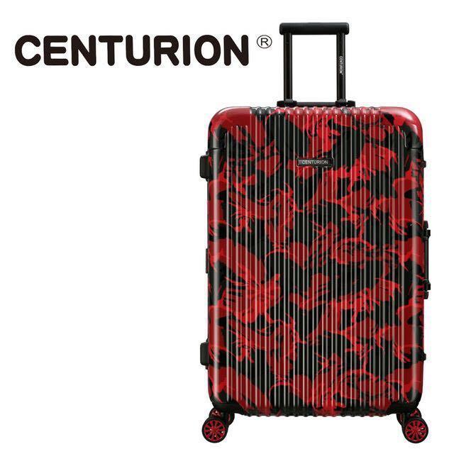 CENTURION美國百夫長22吋行李箱 香港紅(鋁框箱)