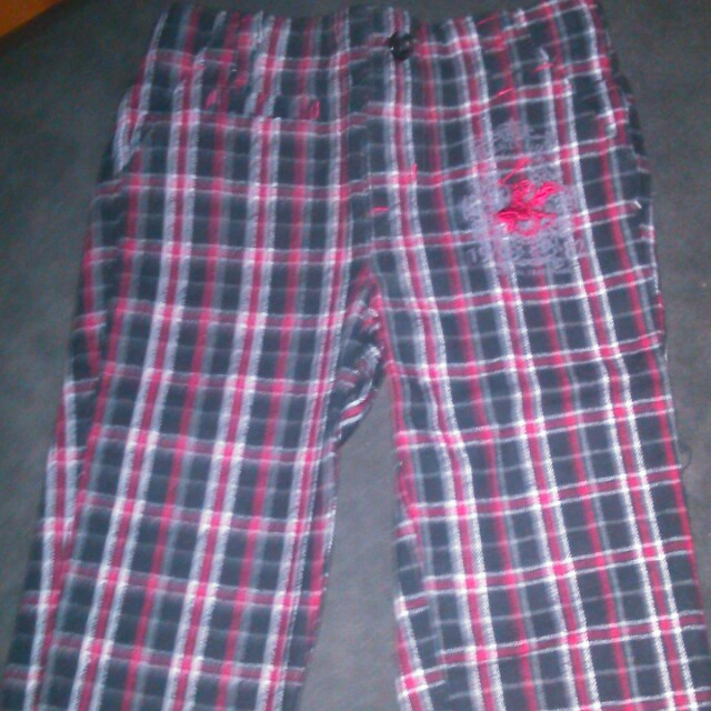 Checkered long pant #15Off