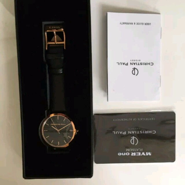 Christian Paul Black and Gold watch