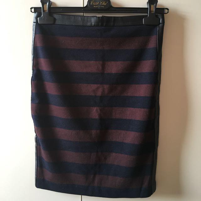 Club Monaco 條紋窄裙