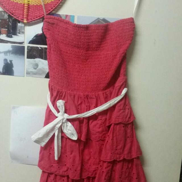 Cutest pink frill dress