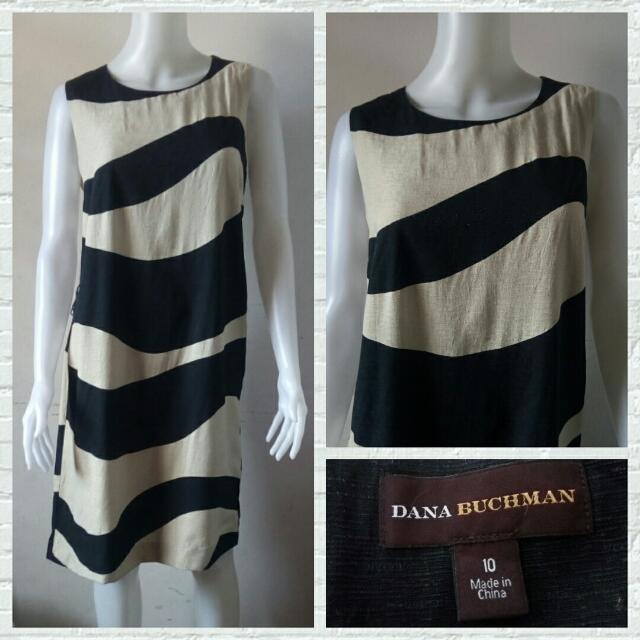 Dana Buchman Two Toned Printed Dress