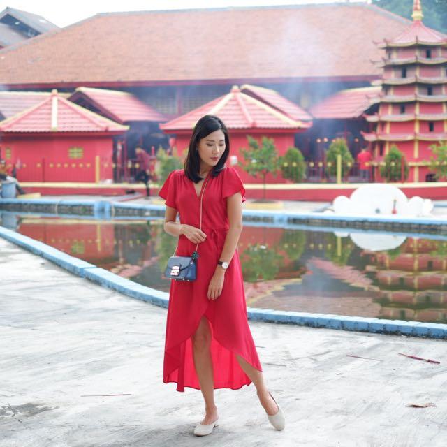 DARAWOMEN TIA DRESS IN RED