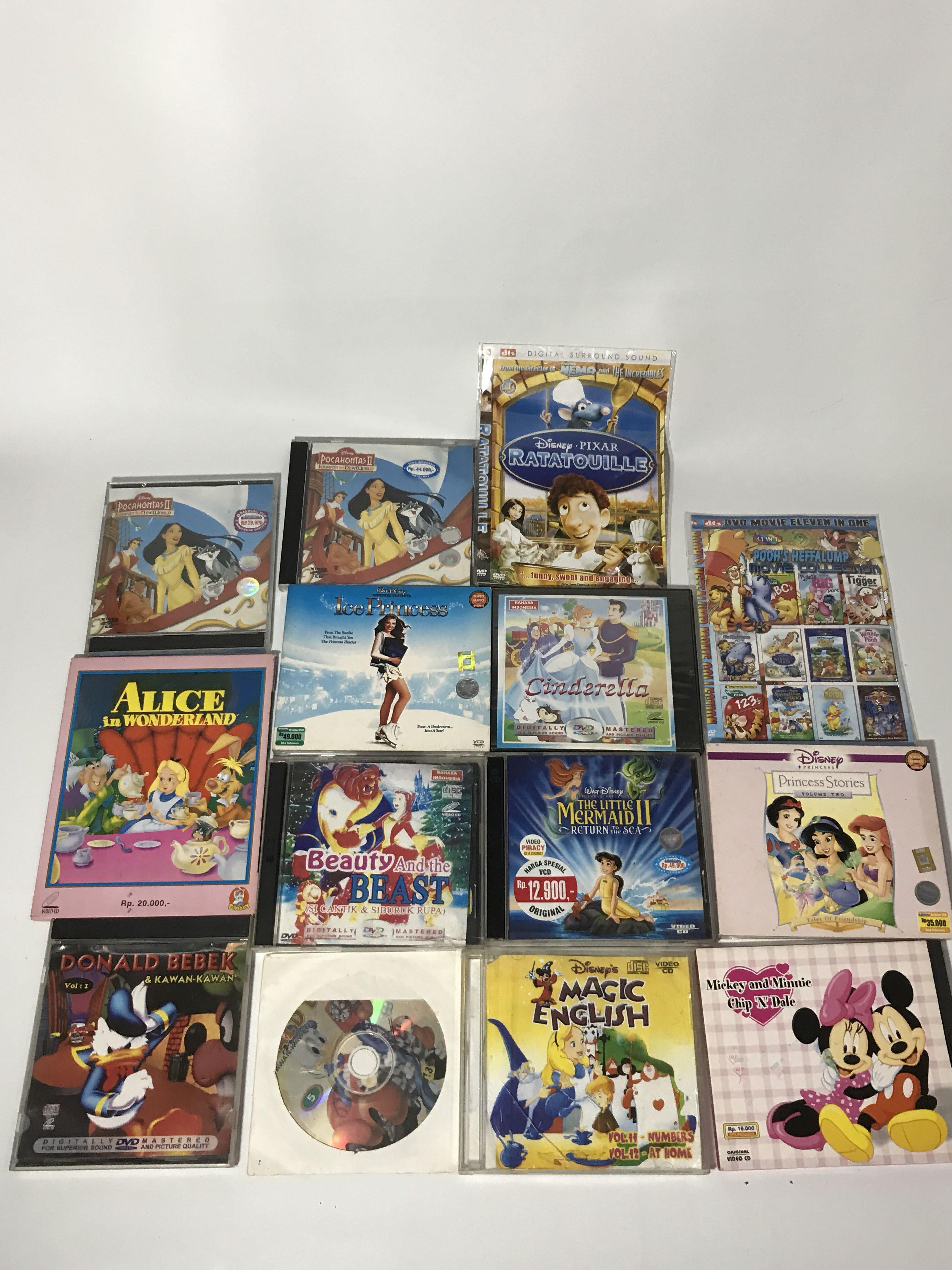 Disney dvd bundled up set
