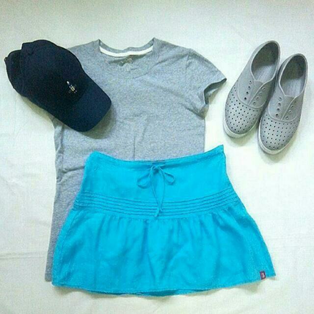 Esprit Blue Drawstring Skirt