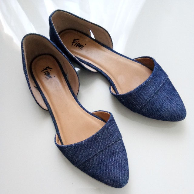 FIONI Blue Jeans Flat Shoes