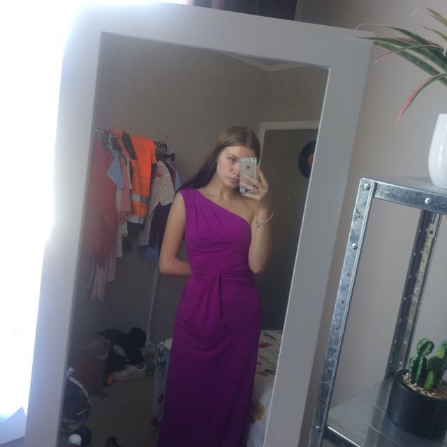 Fluro purple ball dress