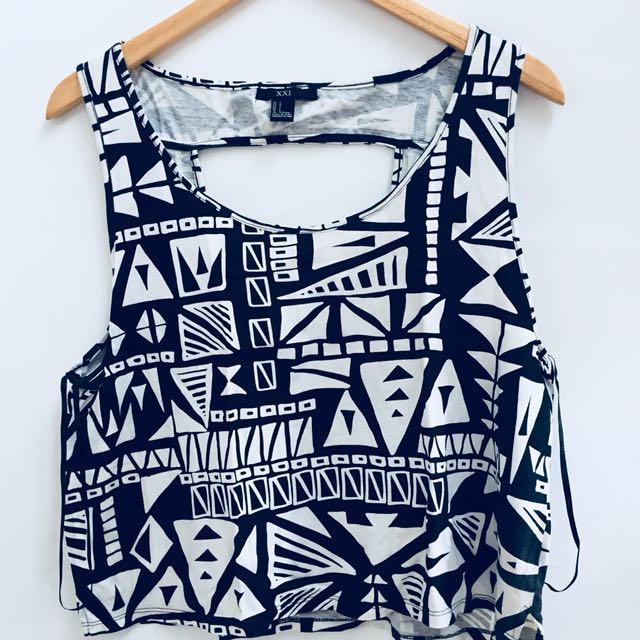 Forever 21 Tribal Crop Top