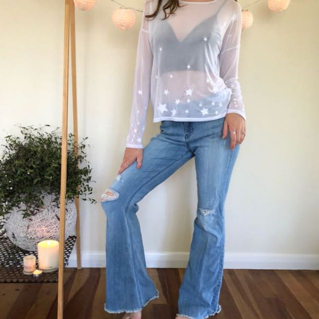 Glassons star mesh shirt