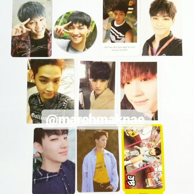 GOT7 (JB) ALL OFFICIAL PHOTOCARD COLLECTION