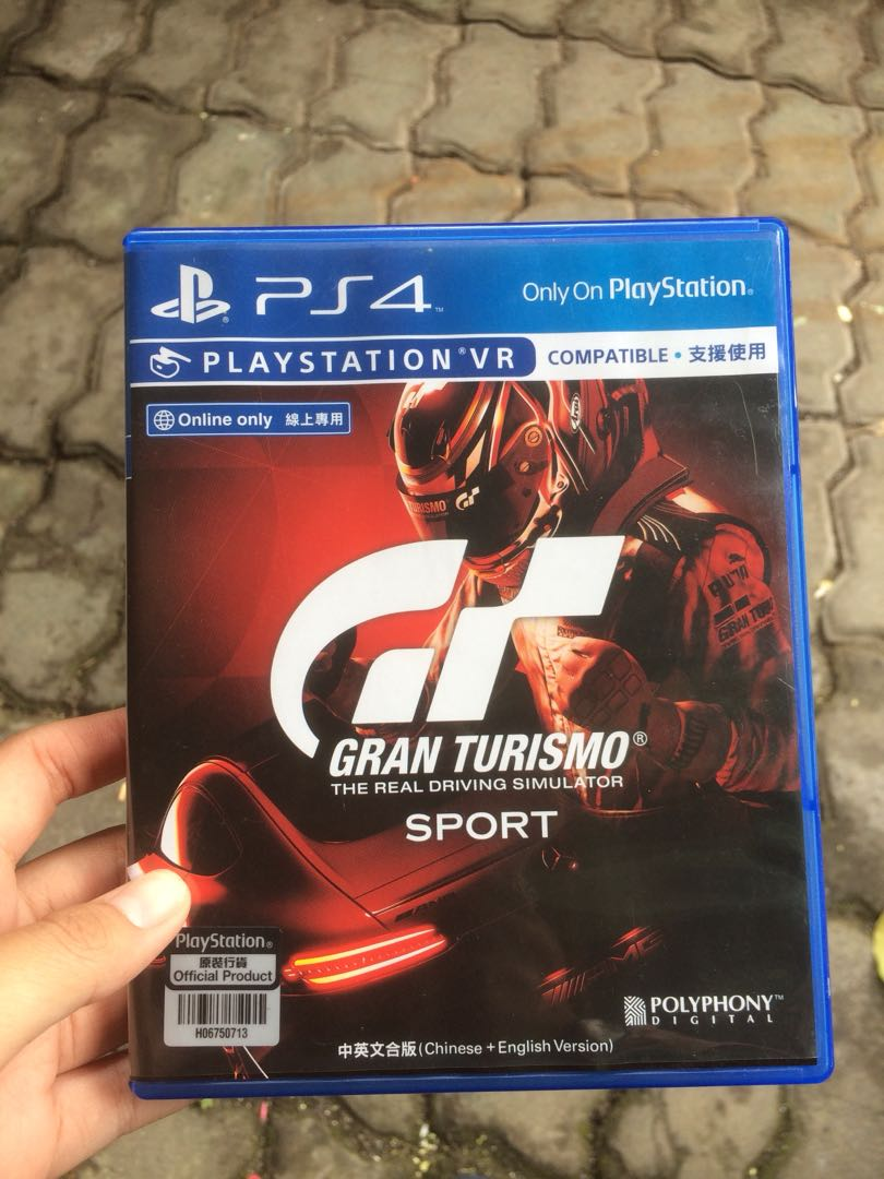 Gran Turismo Sport Kaset Ps4 Video Gaming Games On Carousell Sony Gt Standard Edition Reg3