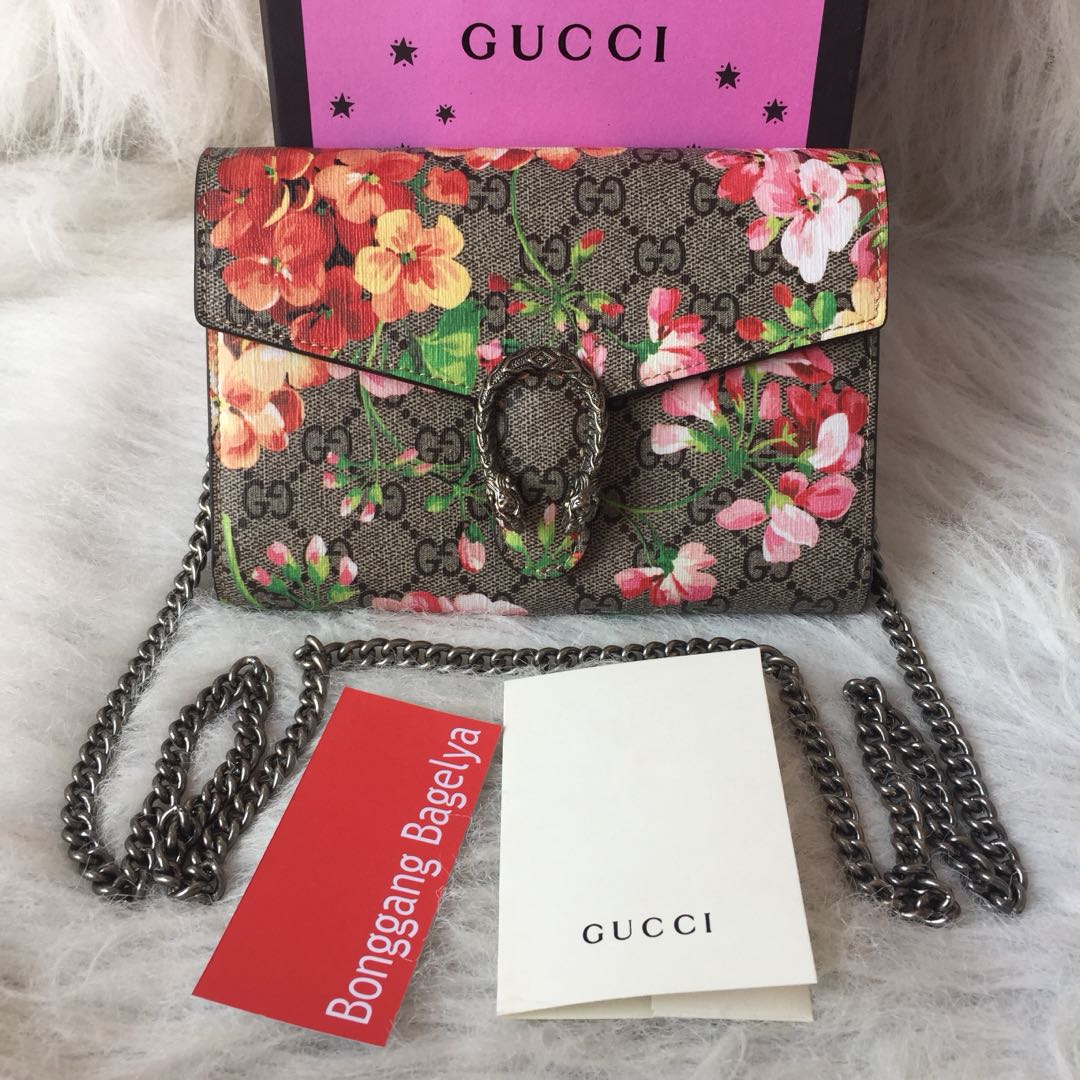 17f635d9a4e Gucci Dionysus GG Supreme Chain Wallet