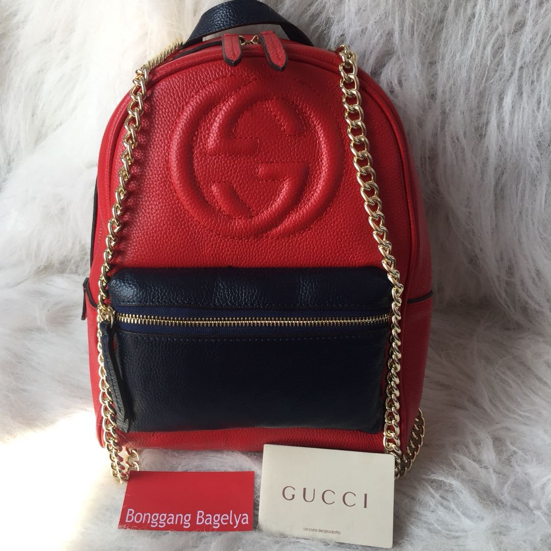 043699c3c12c Gucci Soho Leather Chain Backpack