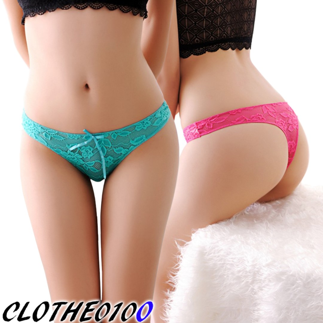 0d77246c304 Sexy lace tanga panties lingerie undergarment underwear briefs for ...