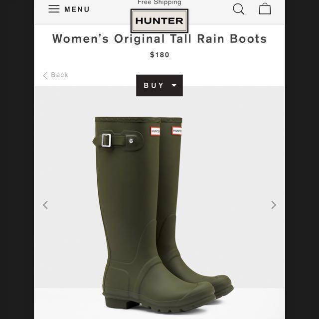 Hunters Rain Boots