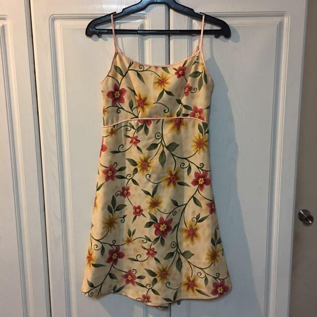 Ibiza Floral Low Back A Line Dress