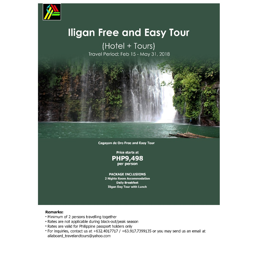Iligan Free and Easy Tour