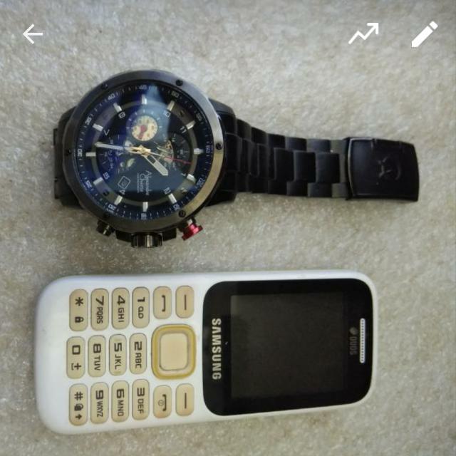 Jam Tangan Alexsander + Hp Samsung