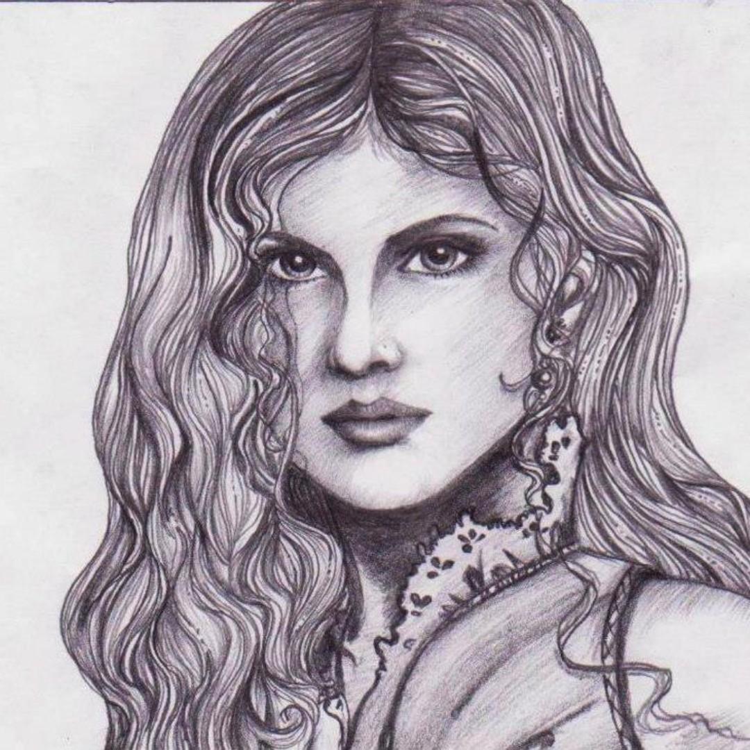 Gambar Sketsa Wajah Artis Hollywood