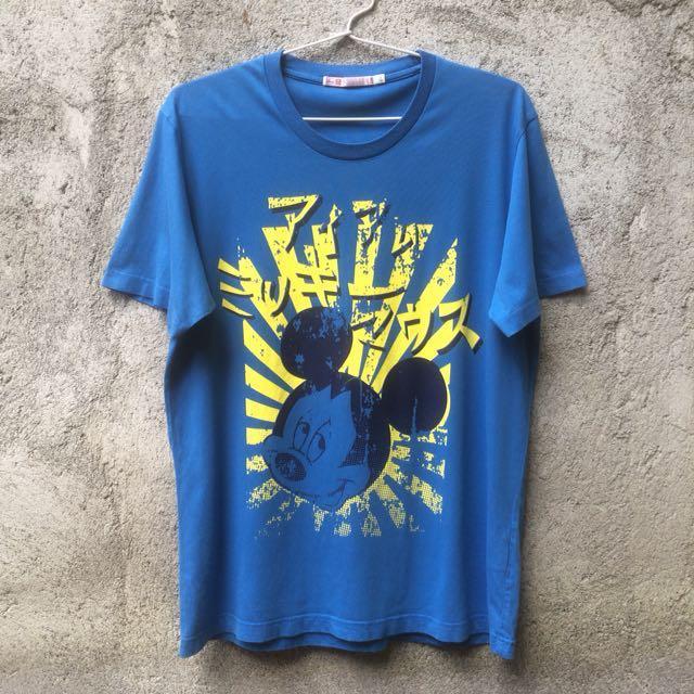 Kaos Tshirt Uniqlo X Disney Mickey Mouse