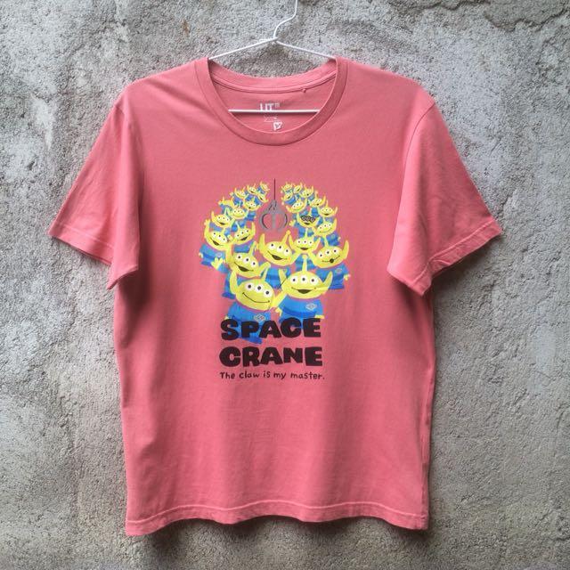 Kaos Tshirt Uniqlo X Toy Story Pink Blush