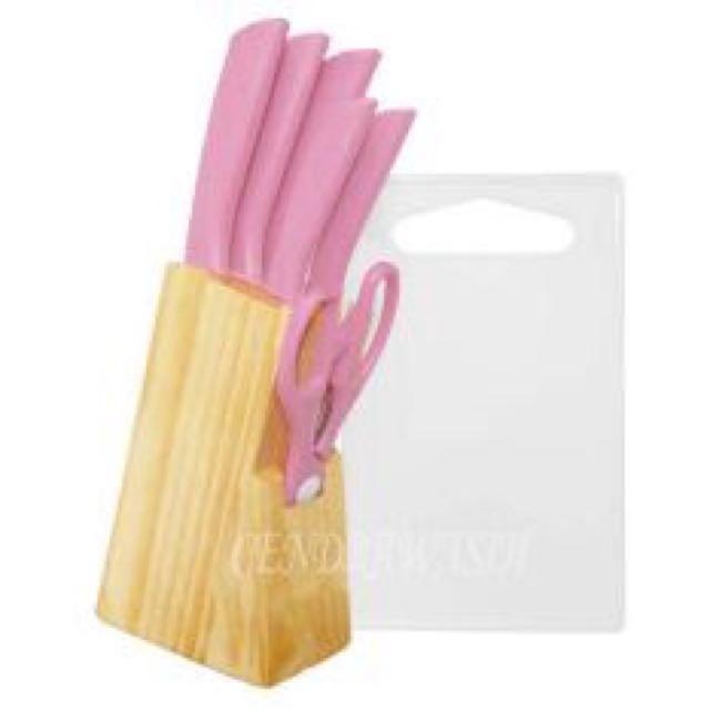 Knife Set Baby Pink