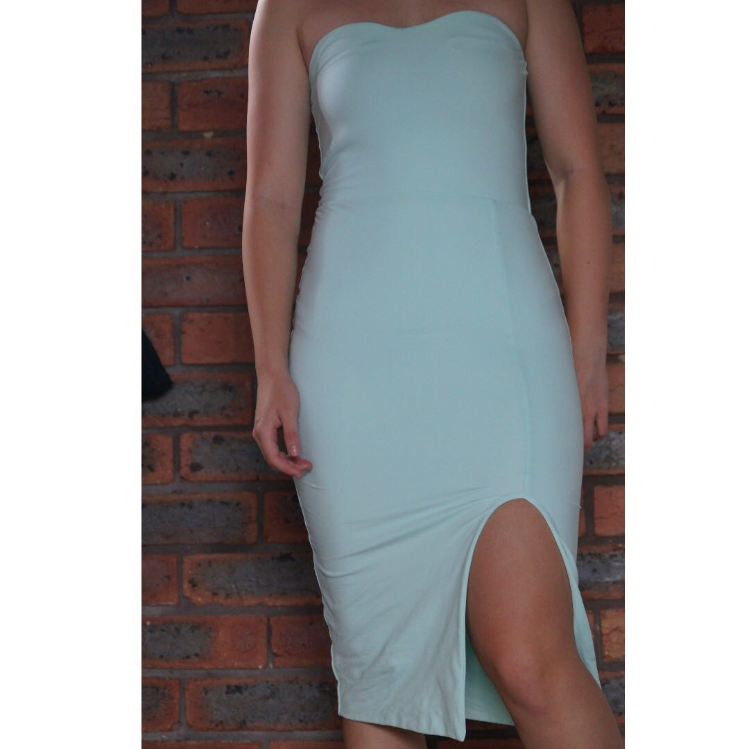 Kookai Aqua Dress Slit
