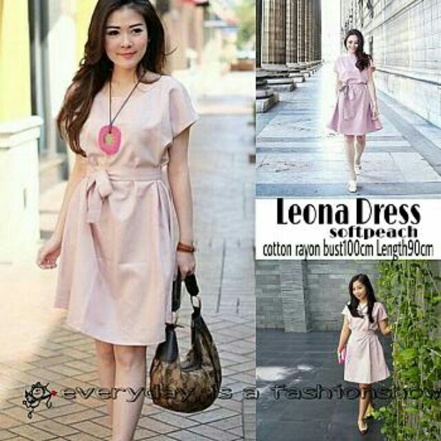 Leona dress soft peach